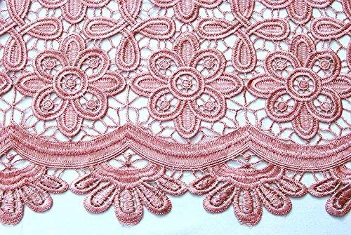 Guipur Retal de Tela Color Rosa Palo 9,6 m.