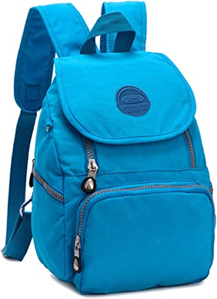 e5869ed956c6 Mini Water-resistant Nylon Backpack for Women Girls Small Backpack Purse  Lightweight Travel Daypack for