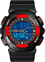 Men Watches Hessimy Men's Digital Sports Wrist Watch LED Screen Large Face Electronics Military Watches Waterproof Alarm Back Light Outdoor Casual Luminous Simple Army Watch