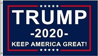 Luincas Trump 2020 Flags 3x5 Feet American Election Banner for Outdoor Indoor Room Front Yard Garden Boat Vivid Color