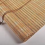 HUAZIYU Persiana de Bambú para Interiores,Natural,Estores de Bambú Cortina de Madera Persiana Enrollable Romanas para Ventanas y Puertas,Protección Solar,Opacas,Personalizable (W:90xH:200cm/36x79in)