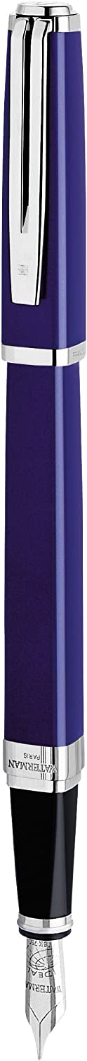 New sales Waterman Exception Fountain Pen Slim Blue Cl with Ranking TOP10 Plated Silver
