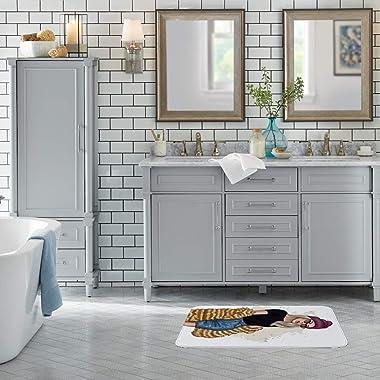 CHEHONG Alfombra de baño elegante con gafas de sol, mullida, no destiñe, para baño, sala de estar, cocina, alfombra de forro