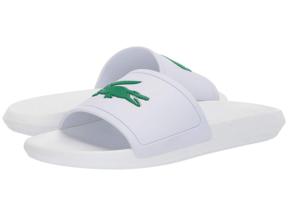 14233c415 Lacoste Croco Slide 119 1 (White Green) Men
