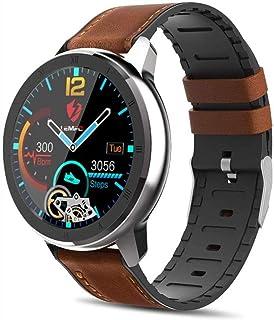 WMING Reloj Inteligente,Pulsómetros Bluetooth Impermeable Rastreador de Ejercicios, PPG + ECG Monitoreo del Ritmo cardíaco del sueño Podómetro Sensor de Tres Ejes Relojes Deportivos