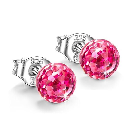 Boucles d'oreilles Rose: Amazon.fr