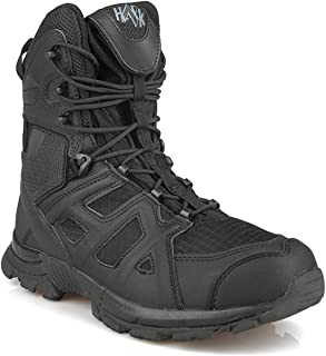 KaiFeng Men's Military Tactical Boots Combat Working Shoes with Zipper