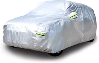 """AmazonBasics Silver Weatherproof Car Cover - PEVA with Cotton, SUVs up to 203"""""""