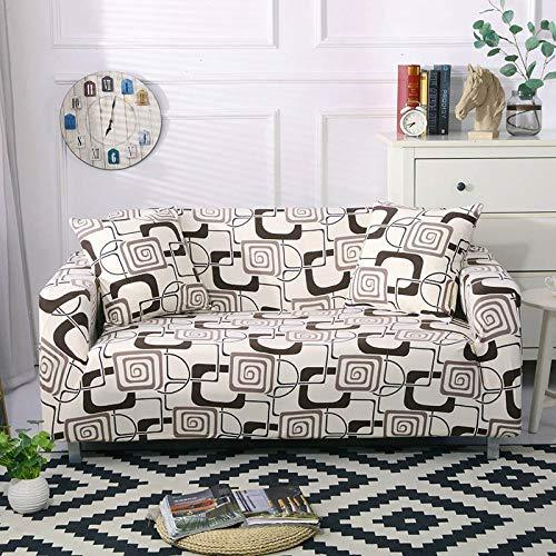Fundas de sofá elásticas elásticas para Sala de Estar Funda de sofá en Forma de L Funda de sillón seccional Fundas de Muebles A14 4 plazas