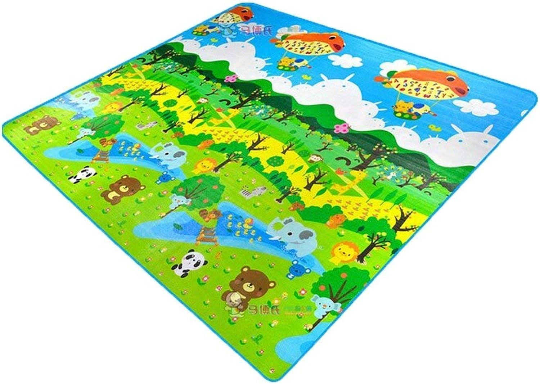 Hblife Tappeto Ripiegabile con Animali Tappetino Gioco per Bambini Gioco Doppia Faccia Impermeabile Gree per Casa e tutti'aperto 200  180cm