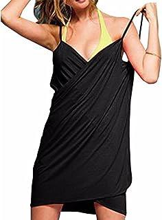 TTD Costume da Bagno per Donna Senza Spalle, Copricostume per Bikini