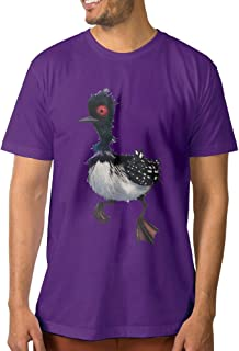 PTCYM Cute Bird Beck Design Particular Men's Tees DeepHeather