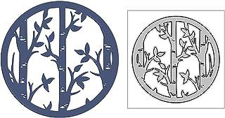HLIAN Bamboe Forest Circle Fan Metal Cutting Dies voor DIY Scrapbooking en Kaart Maken Decoratieve Embossing Craft