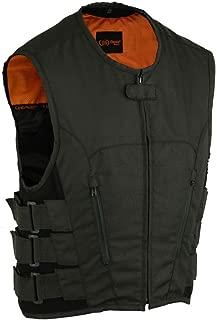DS112BK Men's Updated Textile SWAT Team Style Vest - Motorcycle Vest