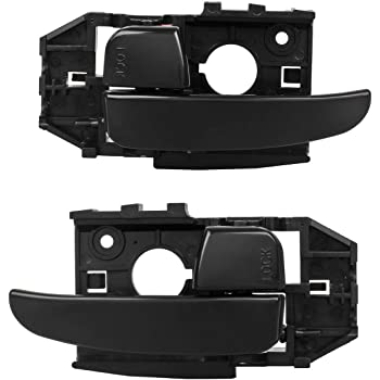 AUTEX 2pcs Textured Black Interior Door Handles Front Left Right Driver Passenger Side Compatible with Elantra 2001 2002 2003 2004 2005 2006 83452 83453