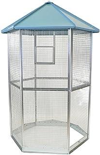 Sandano - Pajarera hexagonal para pájaros XL – Jaula para aves profesionales