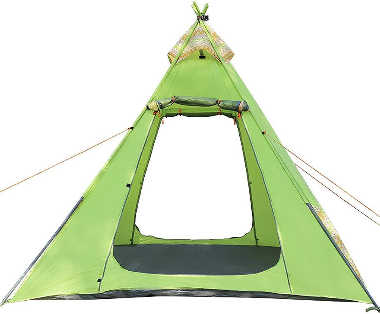 YAMI Tipi Zelt Spielzelt Perfekte Hütte Hütte Hütte Outdoor Camping Zelt Eisen Rohr Pole Winddicht Wasserdicht Camping Konto B07PG28T2J  Günstige Bestellung 89163a
