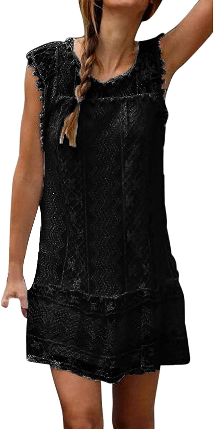 Max 55% OFF Womens Off Shoulder Floral Lace Super special price Dress Mini Boho Sleeveless