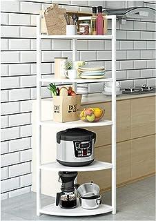 KOKOF Étagère murale multi-couches d'angle d'angle d'angle pour mettre la vaisselle, les pots, les fournitures d'assaisonn...