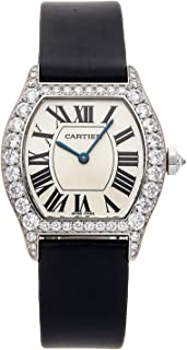 Cartier Tortue Mechanical (Hand-Winding) Silver Dial Womens Watch WA507231 (Certified Pre-Owned)
