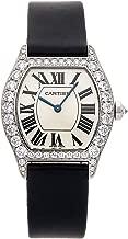 Cartier Tortue Mechanical (Hand-Winding) Silver Dial Womens Watch WA507231 (Certified Pre-Owned)