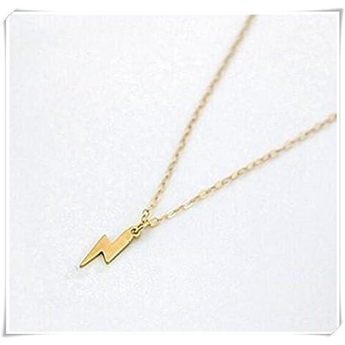 493744a855f Gold Lightning Bolt Necklace: Amazon.com