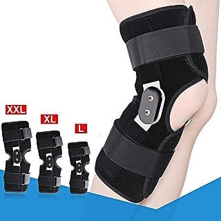 1 rodillera con bisagras, soporte de rodilla de aluminio con doble bisagra, soporte médico transpirable y abierto., aluminio neopreno, L- 36CM-40CM