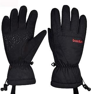 BOODUN Men's Women's Ski Gloves High Breathable TPU Waterproof Membrane Soft Cotton Warm Snowboard Gloves