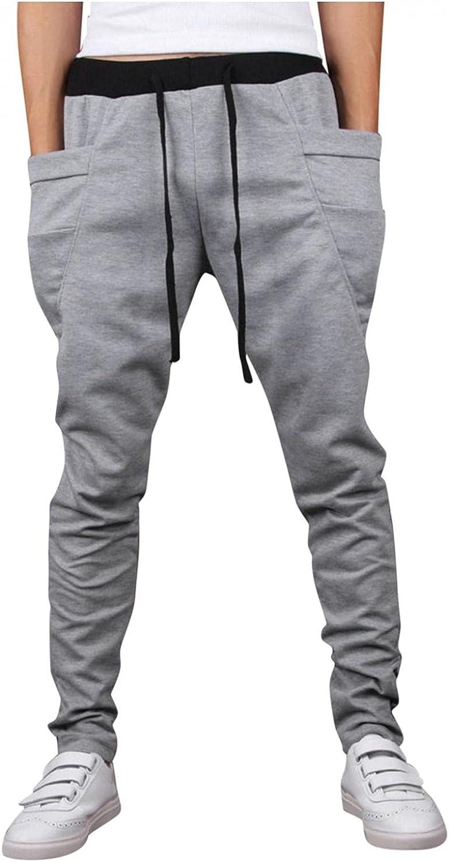 Joggers Sweatpants for Men Slim Fit Athletic Workout Pants Fashion Plus Size Sports Trend Casual Pants Trousers