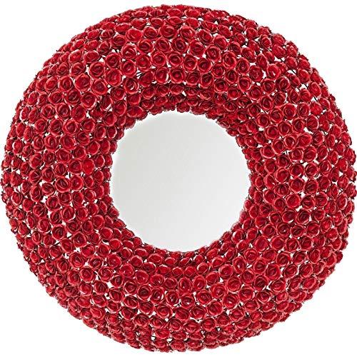 Kare Design Miroir Roses Rouges Rond 100cm