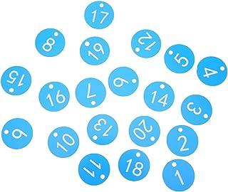Farm Number Tag, Numbered Label, Husbandry Supplies, for Animal Husbandry Farm Beekeeping Livestock(blue, 1-20/bag)
