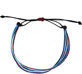 Multistrand string bracelet surfer beach friendship handemade with waxed brazilian polycord - Tribe
