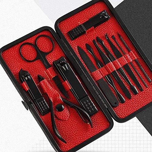 Nail Clipper en acier inoxydable 12 pièces Set Nail Clippers Beauty Manucure Tool