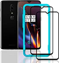 Ibywind Screen Protector for OnePlus 6T [Pack of 2] Full Curved 9H Tempered Glass Protector with Back Carbon Fiber Skin Protector,Including Easy Install Kit