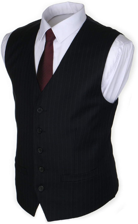 Ruth/&Boaz Herren Anzugweste aus Polyester mit 2 Taschen und 5 Kn/öpfe
