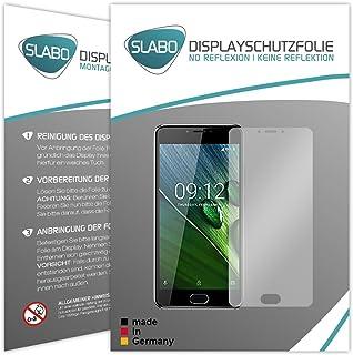 Slabo 2 x displayfolie för Acer Liquid Z6 Plus displayskyddsfolie tillbehör No Reflexion MATT