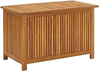 vidaXL Lite drewno akacjowe ogród pudełko do przechowywania na zewnątrz do wewnątrz skrzynia meble poduszka koc drewniany ...
