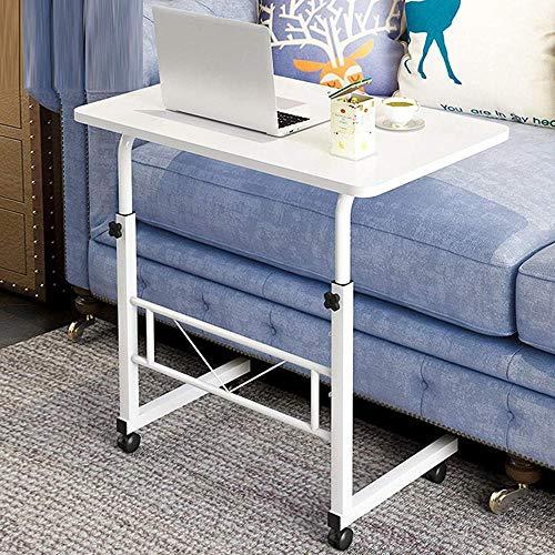 Mesa de escritorio plegable de 78,7 cm con altura ajustable y compacta, para espacios pequeños, mesa auxiliar de PC, color blanco, 80 x 50 x 66 – 90 cm – Blanco – 80 x 50 x 66 – 90 cm