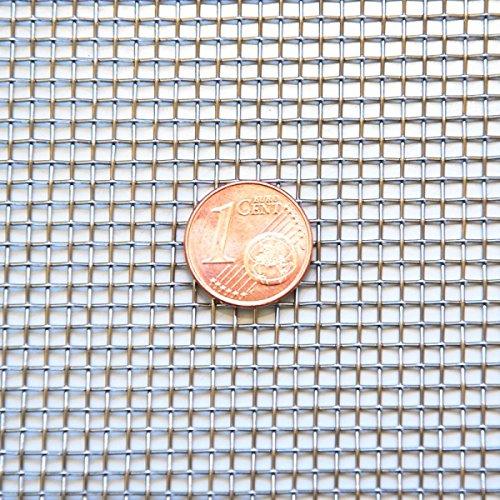 Edelstahl Drahtgewebe Edelstahlgewebe - MW: 2,00 mm - DS: 0,56 mm - 1 m x 1 m Rolle