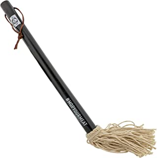 Lillie's Q - Barbeque Sauce Mop, BBQ Grill Brush, Wood Handle, Cotton Mop Head (1 Count)