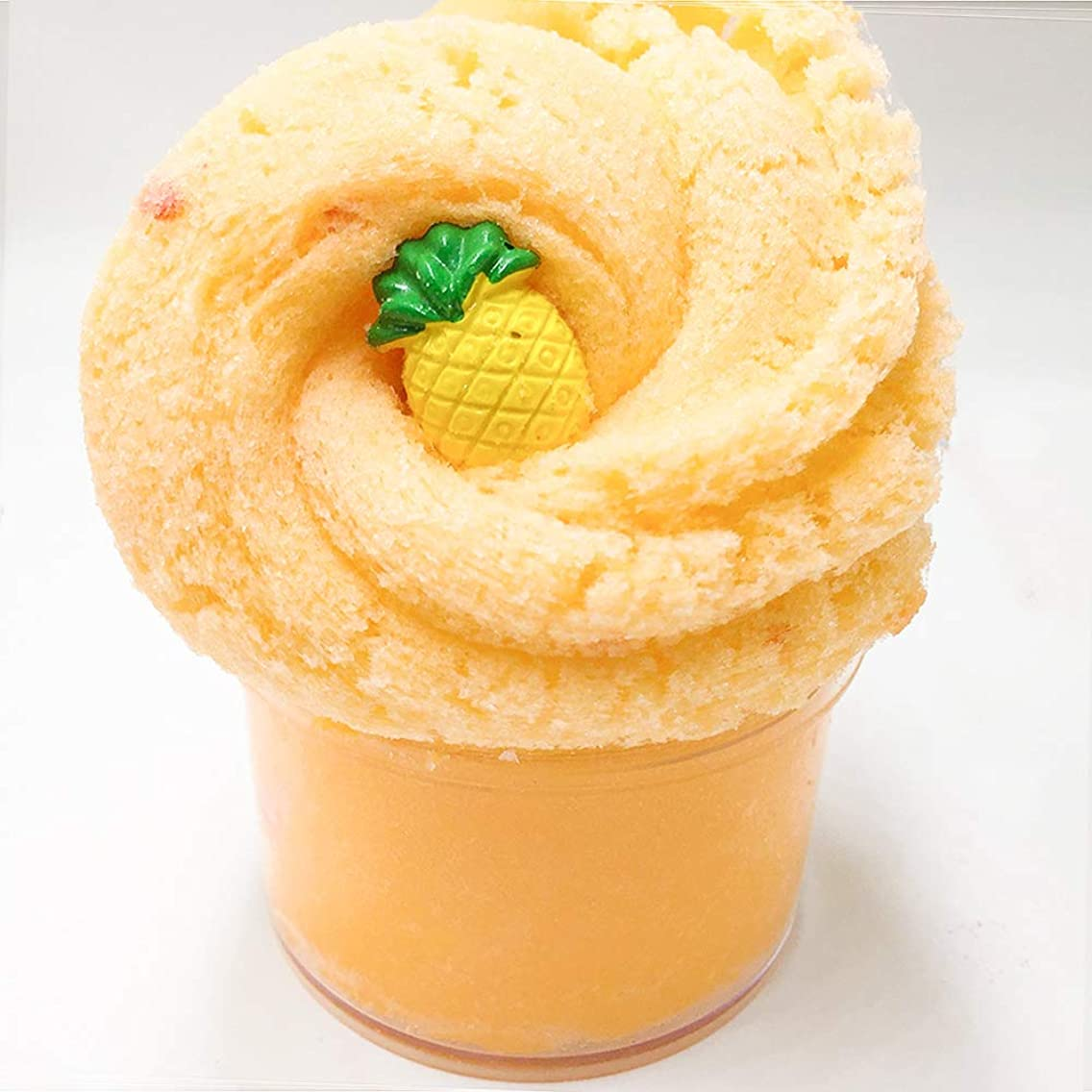 Pineapple Cloud Slime Fluffy Foam Slime Scented Slime Clay Sludge Beading Supplies Toys for Adults and Kids 8oz