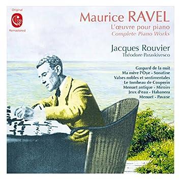 Ravel: L'œuvre pour piano