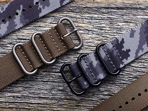 SUUNTO SS050229000 Original Watch Strap for All Spartan Sport WRH 9 Watches, Textile, Length: 24.4 cm, Width: 24 mm, Includes Pins for Attaching The Strap, Grey/Black 2