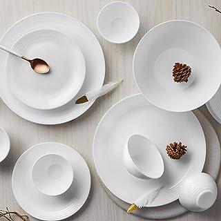 Larah By Borosil Orbit Series Opalware Dinner Set, 33 Pcs, White