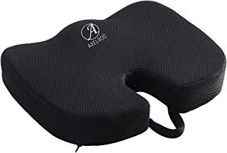 Axelrod Premium Comfort Seat Cushion - Non-Slip Momory Foam for Office Chair, Car Seat Cushion - Back Pain Relief & Scitic...