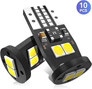 Marsauto194 T10 LED Bulbs 158 168 400LM 6000K Extremetly Bright Cool White 2835SMD Chips Error Free LED Replacement Bulbs for 12V Car Interior Dome Map Door Courtesy Trunk License Plate Lights Pack of