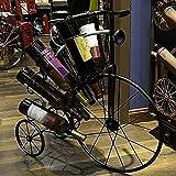 YAeele Bicicleta botellero 8 Botellas de Botella de la Botella de la Bicicleta de Hierro Estante mostrador de Moda Forjado Estante Decoración del Arte del Arte