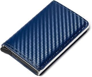 GUMAOPAJIAAAqianb wallet Card Holder With Organizer Coin Pocket Fashion Carbon Fiber Credit Card Holder Men Slim Wallet An...