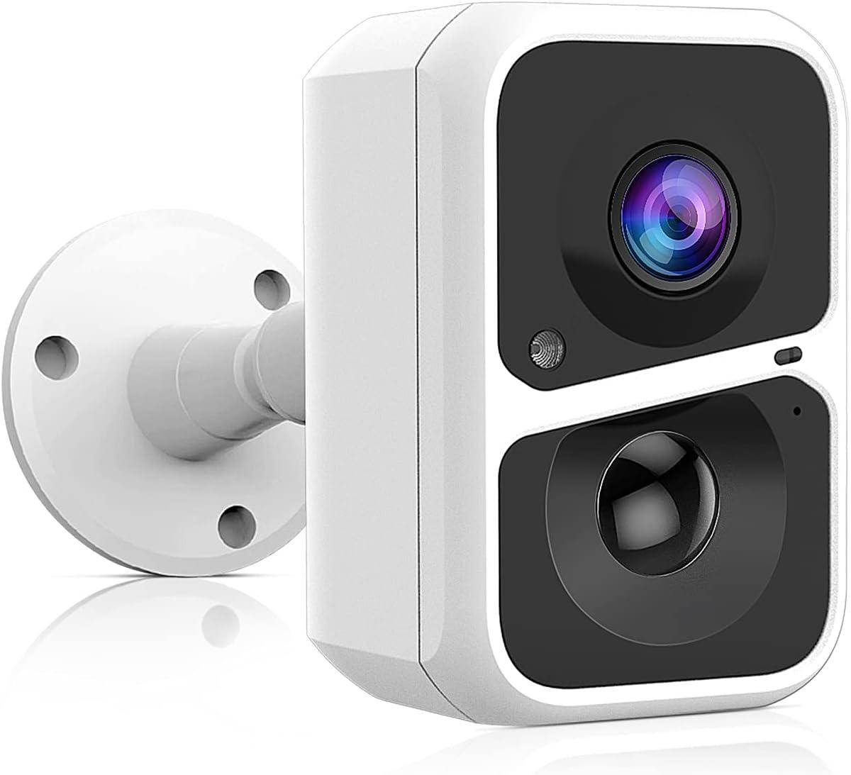 Everenty Cámara de Vigilancia,HD 1080P Camara Vigilancia WiFi Exterior con Batería de 5200 MAH, Videovigilancia Inalámbrica, Detección de Movimiento Humano, Audio Bidireccional,Visión Nocturna, Alexa
