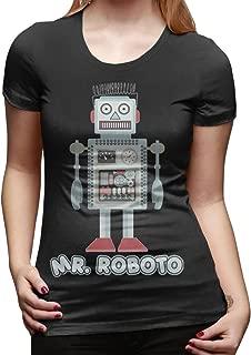 Mr Roboto Women's Fashion Short-Sleeved T-Shirt Tee-Shirts